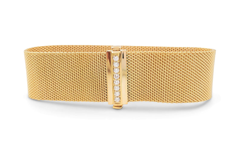 Tiffany & Co. Somerset Yellow Gold and Diamond Clasp Bracelet
