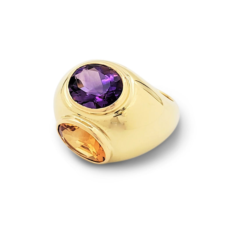 Paloma Picasso for Tiffany & Co. Yellow Gold Amethyst and Citrine Bombé Ring