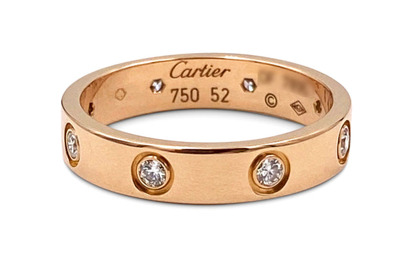 Cartier Love Rose Gold Diamond Ring