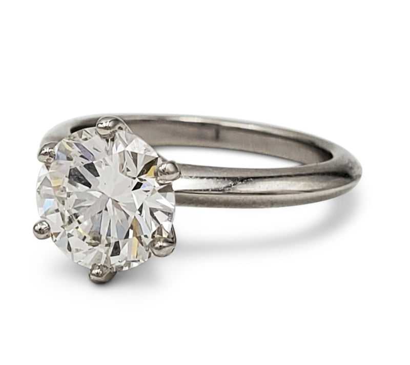 Tiffany & Co. Solitaire 2.12 Carat Diamond Engagement Ring