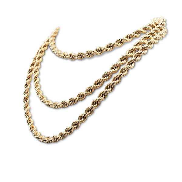 Vintage Tiffany & Co. Yellow Gold Twisted Rope Chain NecklaceVintage Tiffany & Co. Yellow Gold Twisted Rope Chain Necklace