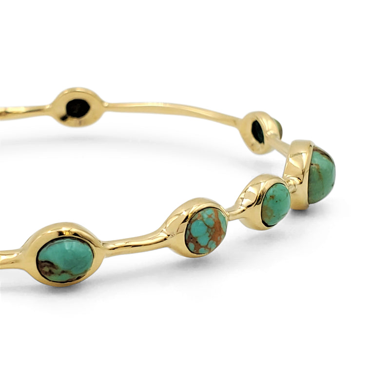 Ippolita 'Rock Candy' Yellow Gold and Turquoise Bangle