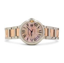 Cartier Ballon Bleu de Cartier Stainless Steel and Rose Gold Watch, Medium Model