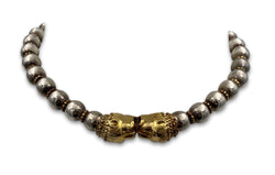 Vintage Zolotas Silver and 18 Karat Gold Necklace