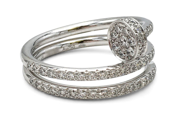 Cartier Juste Un Clou White Gold Diamond Ring