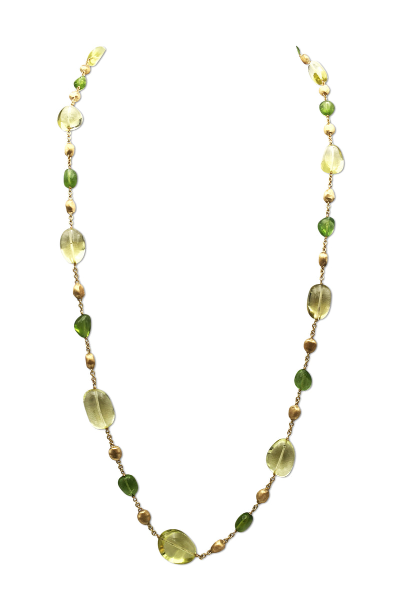 Marco Bicego Gold Citrine and Peridot Necklace