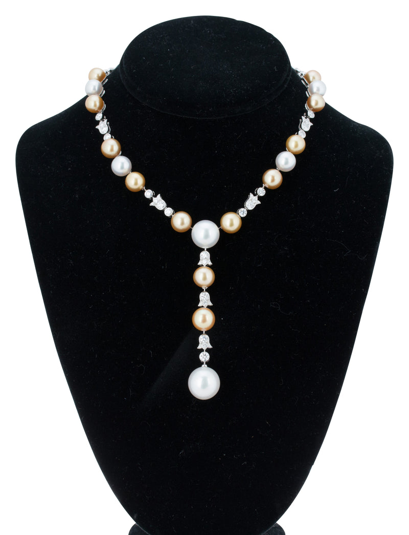 Cartier High Jewelry Platinum Diamond and Pearl Necklace