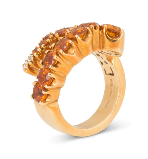 Pasquale Bruni Sun Ray Citrine and Diamond Ring