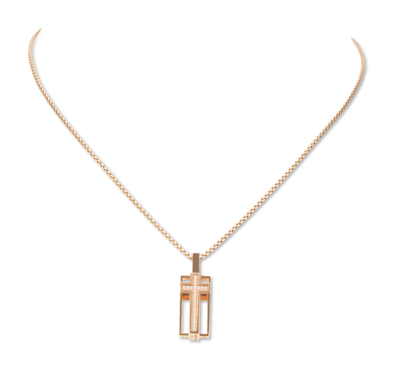 Roger Dubuis 'Follow Me' Gold and Diamond Pendant Necklace