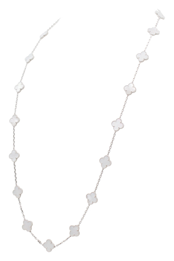 Van Cleef & Arpels Vintage Alhambra 20 Motif Mother-of-Pearl Necklace