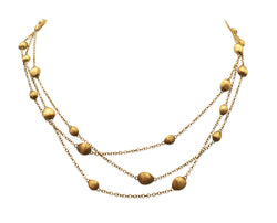 Marco Bicego Confetti Oro Triple Strand Gold Necklace