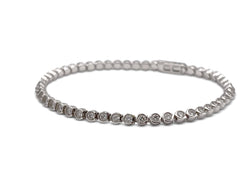 Cartier 'C de Cartier' White Gold Diamond Bracelet