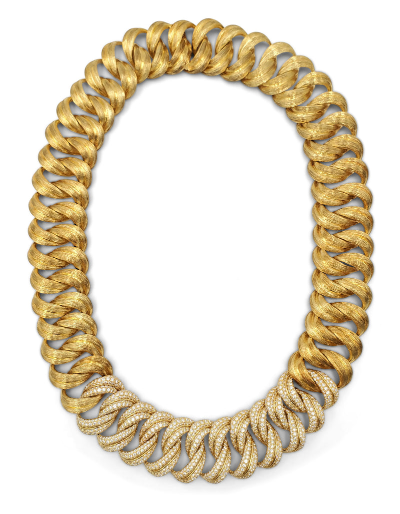 Henry Dunay Sabi Gold and Diamond Pave Necklace