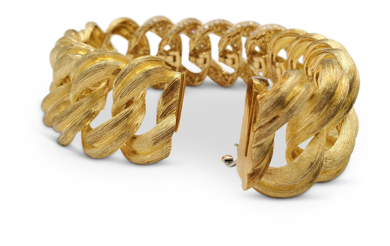 Henry Dunay Sabi Gold and Diamond Pave Bracelet
