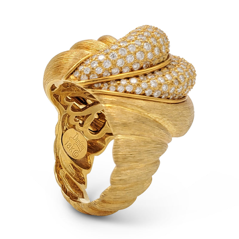 Henry Dunay Sabi Gold and Diamond Pave Ring