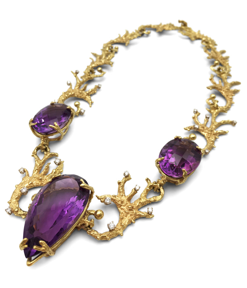 House of Murat Amethyst and Diamond Necklace