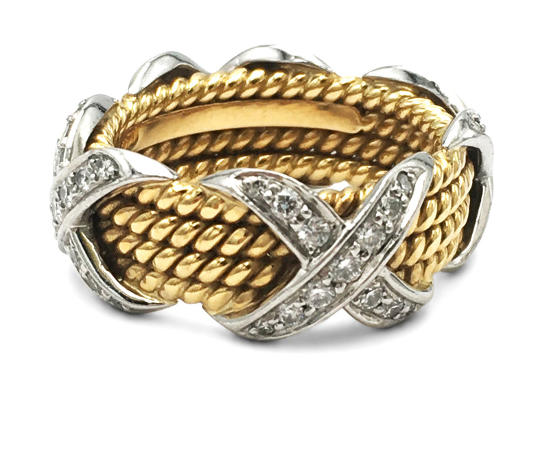 Jean Schlumberger for Tiffany & Co. Rope Four-row X Ring