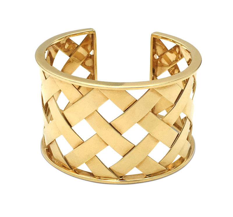 Verdura Criss Cross Yellow Gold Cuff