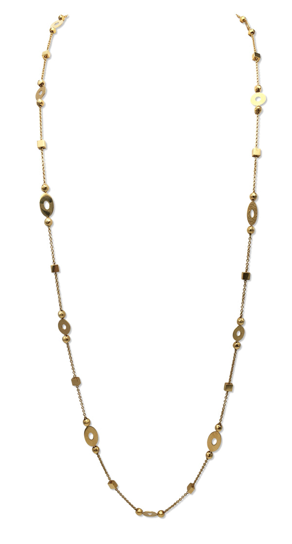 Bulgari Yellow Gold Disc Chain Necklace