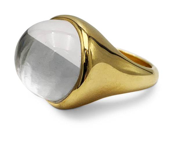 Elsa Peretti for Tiffany & Co. Cabochon Rock Crystal Ring
