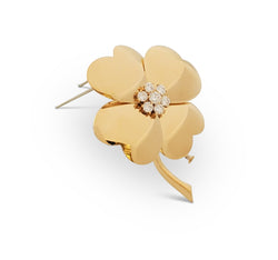 Van Cleef & Arpels Cosmos Yellow Gold and Diamond Pin