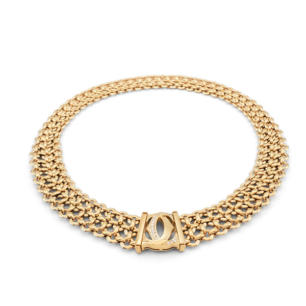 Cartier Penelope Double-C Yellow Gold and Diamond Necklace