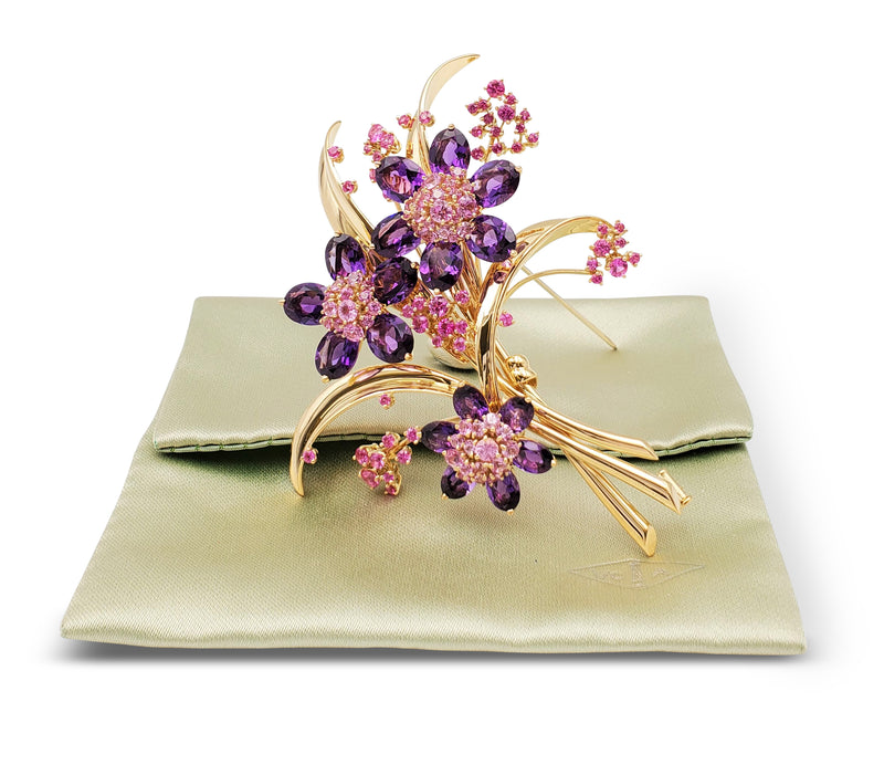 Van Cleef & Arpels Hawaii Pink Sapphire and Amethyst Suite