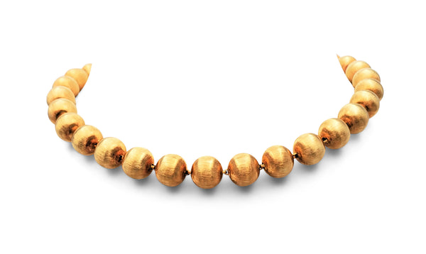 Buccellati Rigato Gold Necklace