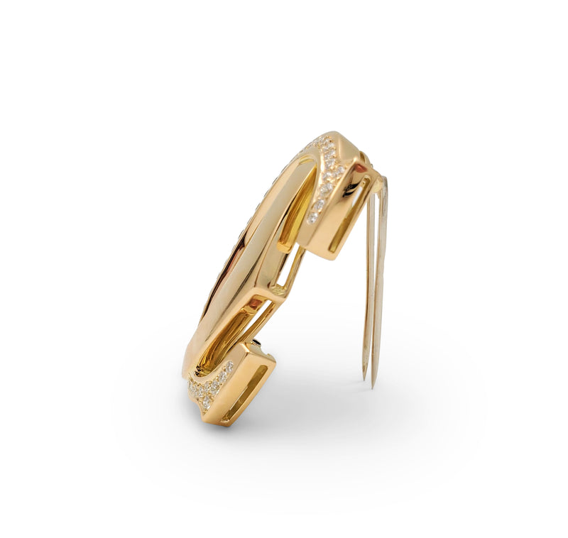 Cartier Penelope Double-C Yellow Gold and Diamond Pin