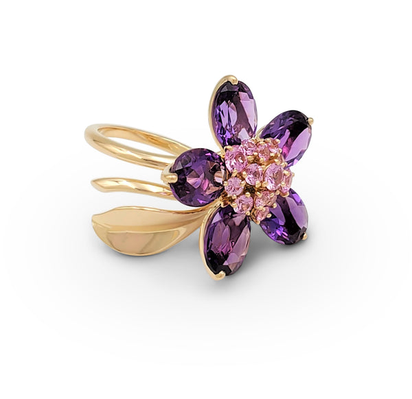 Van Cleef & Arpels Hawaii Pink Sapphire and Amethyst Ring