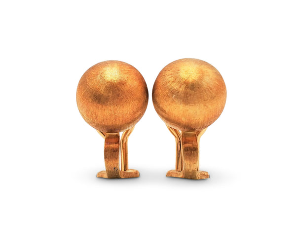 Buccellati Rigato Gold Earrings