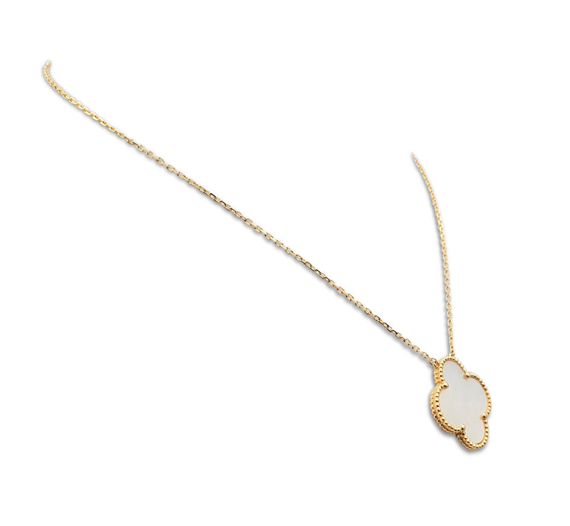 Van Cleef & Arpels Magic Alhambra Yellow Gold and Mother of Pearl Necklace