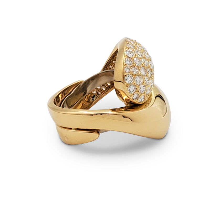 Cartier Carmelo Yin-Yang Gold and Diamond Ring
