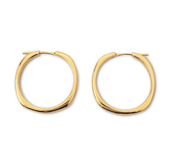 Tiffany & Co. Square Cushion Collection Yellow Gold Hoop Earrings