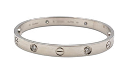 Cartier Love White Gold 4 Diamond Bracelet