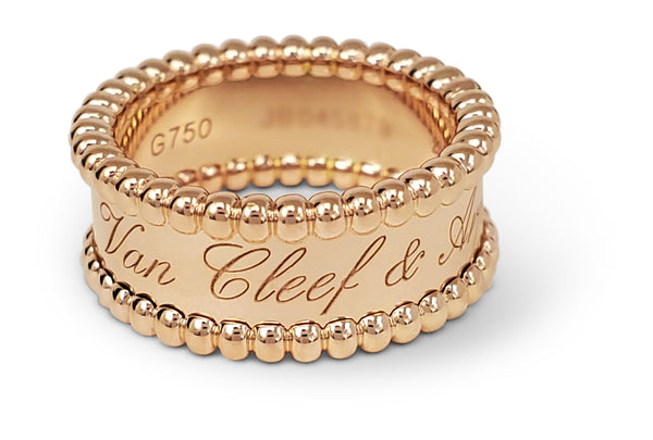 Van Cleef & Arpels Perlée Rose Gold Ring