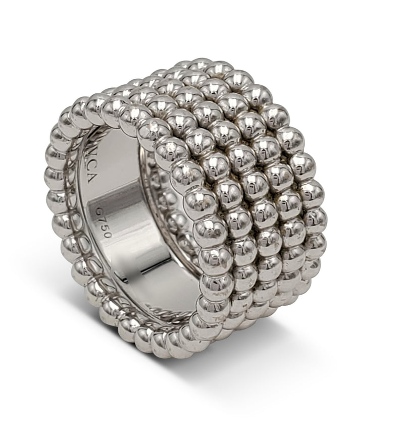 Van Cleef & Arpels Perlée White Gold Ring