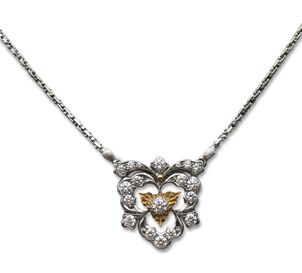 Buccellati Gold and Diamond Pendant Necklace