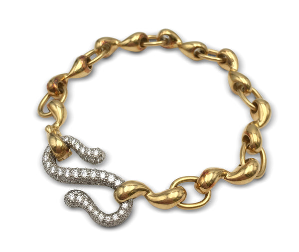Tiffany & Co. Platinum and Gold Pave Diamond Bracelet