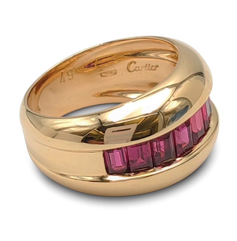 Cartier Gold and Calibre Cut Ruby Ring