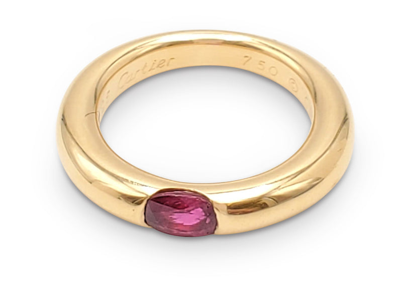 Cartier Ellipse Gold and Ruby Ring