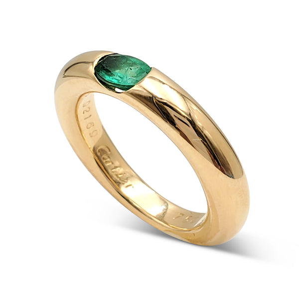 Cartier Ellipse Gold and Emerald Ring