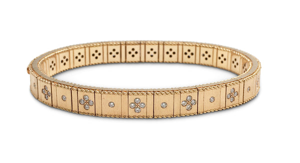 Roberto Coin Rose Gold Bracelet with Fleur-de-Lis Diamonds