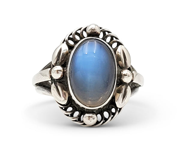 Vintage Georg Jensen Sterling Silver Moonstone Ring, Number 1A