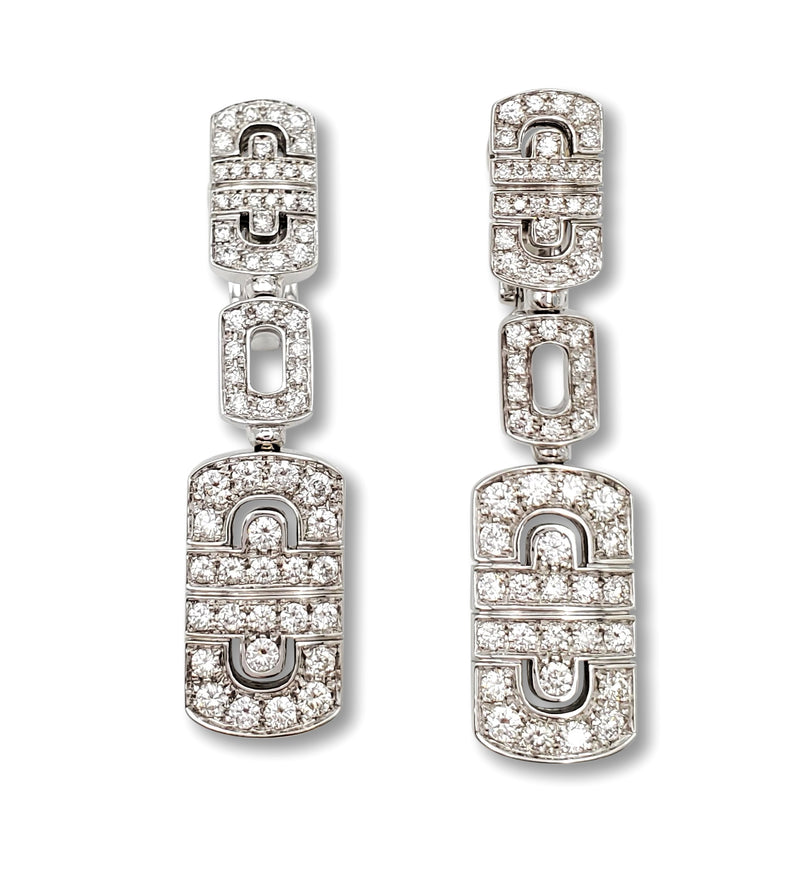 Bulgari Parentesi Gold and Diamond Earrings