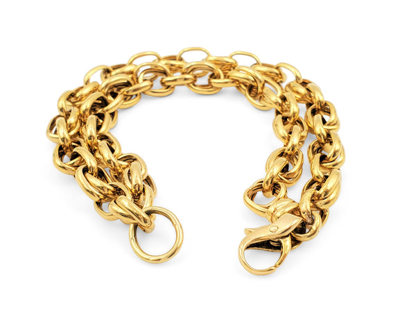 Yellow Gold Double Link Bracelet