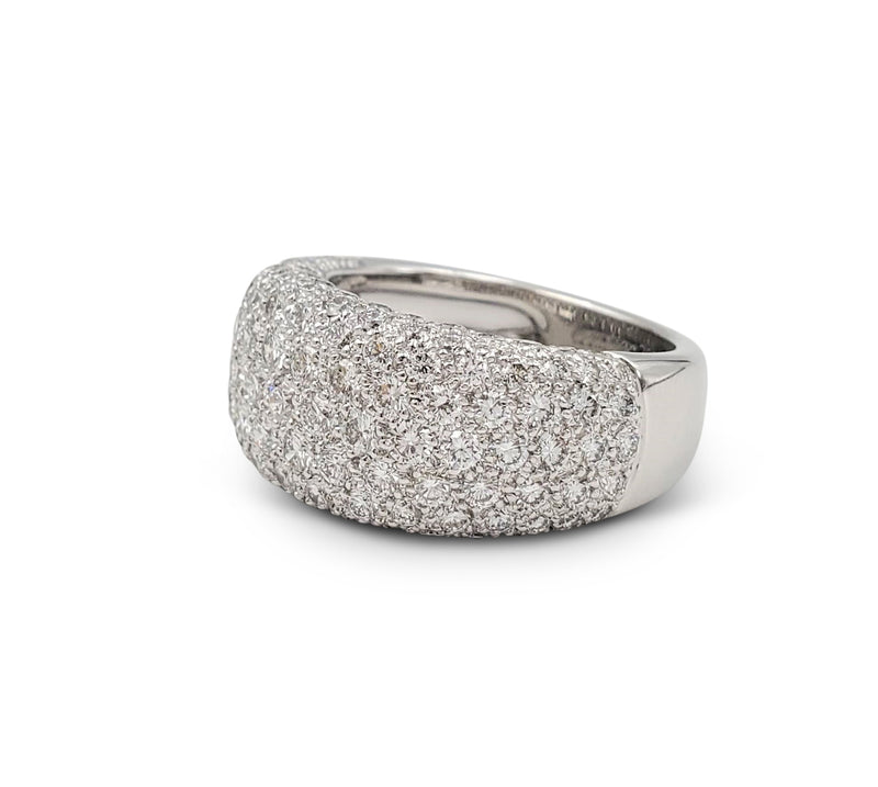 Cartier Nouvelle Vague White Gold and Diamond Pavé Dome Ring