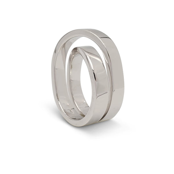 Cartier Paris Nouvelle Vague White Gold Crossover Ring