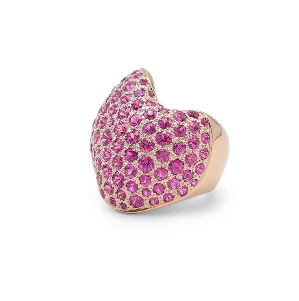 Van Cleef & Arpels Rose Gold and Pink Sapphire Ring