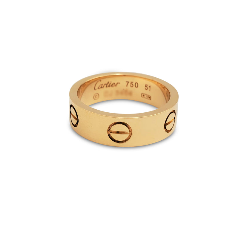 Cartier Love  Yellow Gold Ring